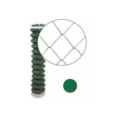 Grillage Simple Torsion Vert - Maille 50 x 50mm - Fil 2,4mm - 1 mètre