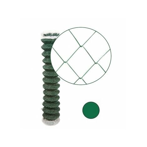 Grillage Simple Torsion Vert - Maille 50 x 50mm - Fil 2,4mm - 2 mètres