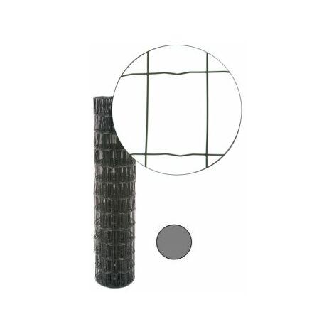 Grillage Soudé Gris Anthracite - JARDIMALIN - Maille 100 x 75mm - 1,5 mètre