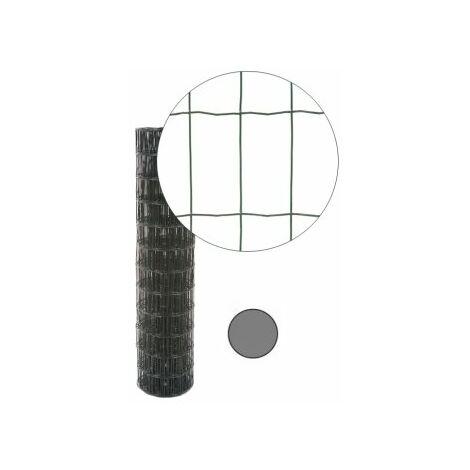 Grillage Soudé Gris Anthracite - JARDIPREMIUM - Maille 100 x 50mm - 0,6 mètre