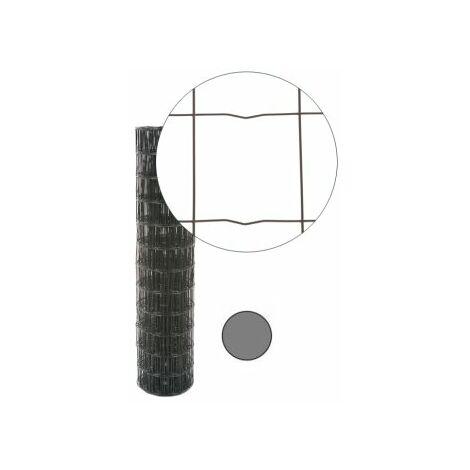 Grillage Soudé Gris Anthracite - JARDITOP - Maille 100 x 100mm - 1,5 mètre