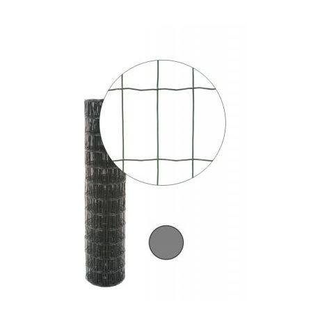 Grillage Soudé Gris Anthracite - Maille 100 x 50mm - 1,80 mètre