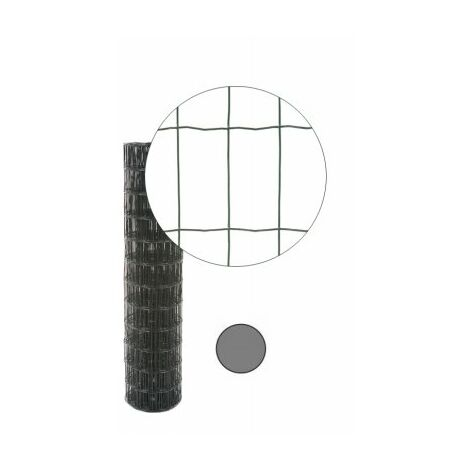 Grillage Soudé Gris Anthracite - Maille 100 x 50mm - 2 mètres