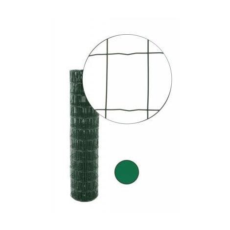 Grillage soudé Vert CAUMON maille 100x50 Fil 2.5mm H.1,20m - Rouleau 25m - HORTOPLAST120V