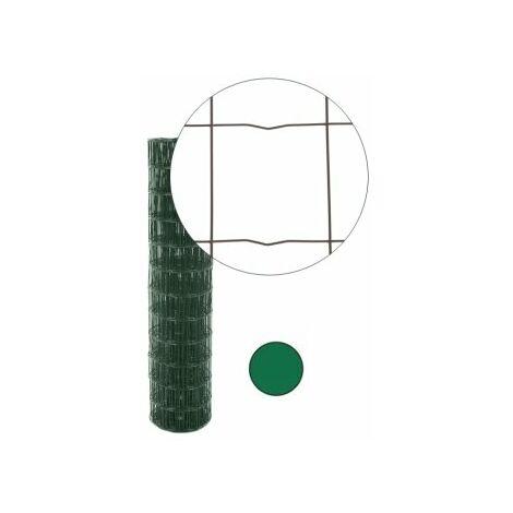 Grillage Soudé Vert - Maille 100 x 100mm - 1 mètre