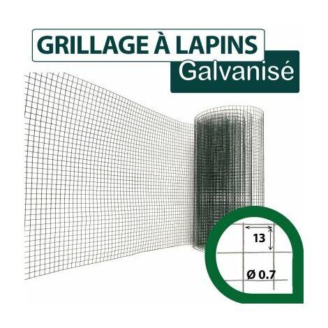Grillage Soudé Vert - Maille Carrée 13mm - Longueur 10m - 0,5 mètre