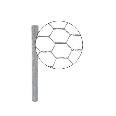 Grillage Triple Torsion Galvanisé - Maille Hexa 25mm - Longueur 25m - 1 m