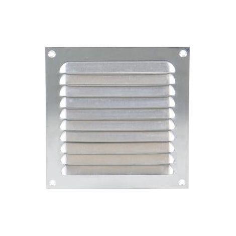 Grille à persienne 436 RENSON 300 x 300 mm - anodisé argent - 43003001