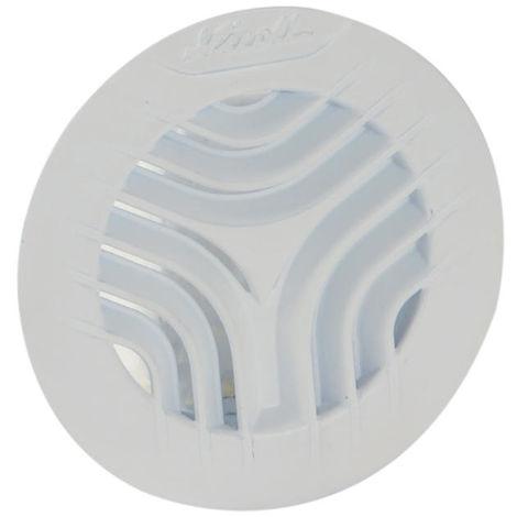 Grille aération ronde simple pour tube PVC