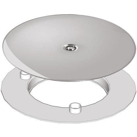 Grille ABS chromé + adaptateur O90 pour vidage de douche Slim