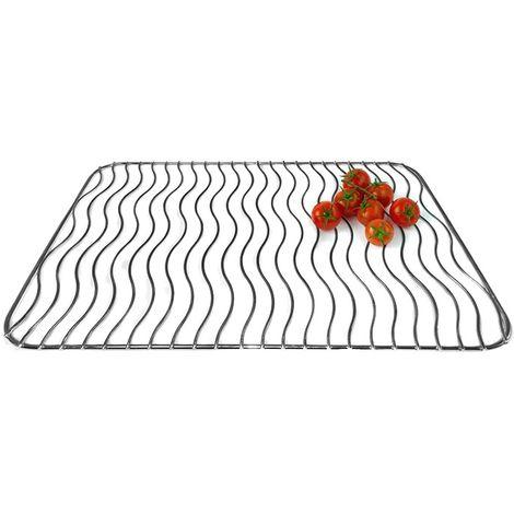 Grille acier inoxydable (40 x 28 cm) pour barbecue Lagrange