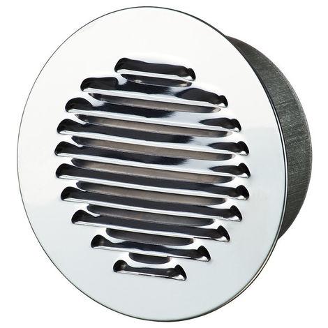 Grille aération ronde 150mm 118cm2 - Alu + anti-insecte - Winflex