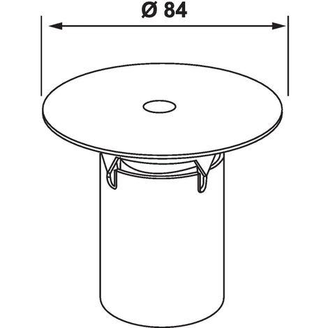 Grille avec tasse - Ø 84 mm - Nicoll