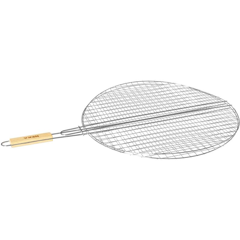 Grille barbecue ronde - Diam. 50 cm. - Gris