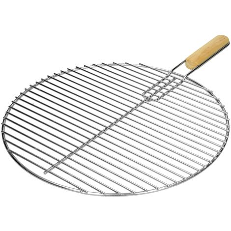 Grille barbeque en acier inoxydable BBQ grillage foyer cuisson ronde 44,5 cm