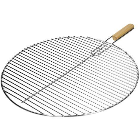 Grille barbeque en acier inoxydable BBQ grillage foyer cuisson ronde 54,5 cm