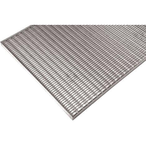 Grille caillebotis industriel galvanisé maille 30/10 800x800x30mm