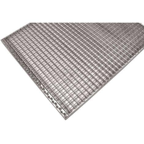 grille caillebotis industrielle pour palier de l'escalier maille 30/30 galvanisé