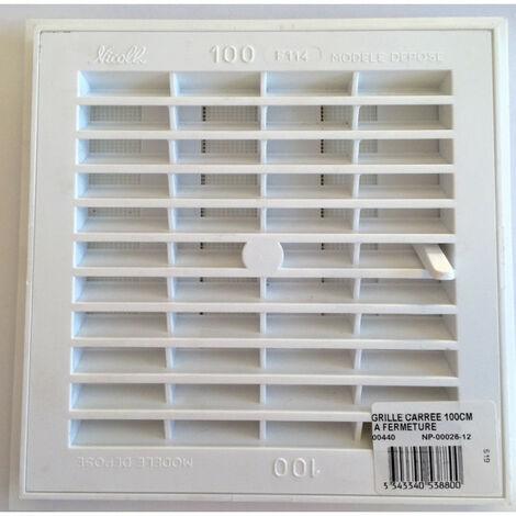 Grille carrée à fermeture à bâtir PVC - plusieurs modèles disponibles