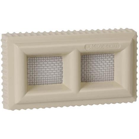 Grille claustra PVC carr/ée 120 x 120 sable