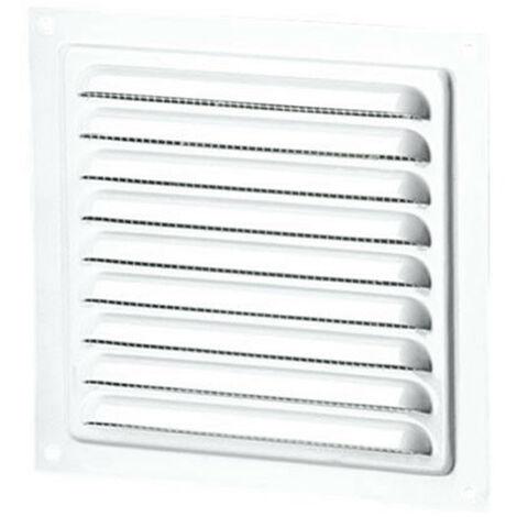 Grille d'aération carrée 200mm - Acier Blanc - Ecran anti insecte - Winflex Ventilation
