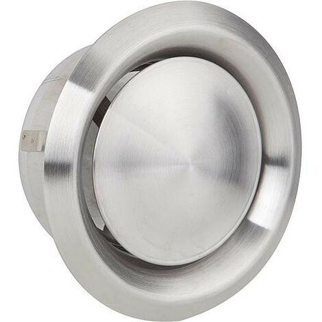 Grille d'aération et d'extraction V2A, raccord diametre 100 mm, diametre ext. 140 mm