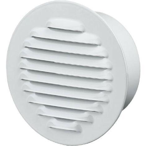 Grille d'aération ronde Ø125mm - Acier Blanc - Anti insecte - Winflex Ventilation