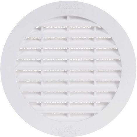 Grille d'aération ronde - Ø 189 mm - Avec moustiquaire - Girpi
