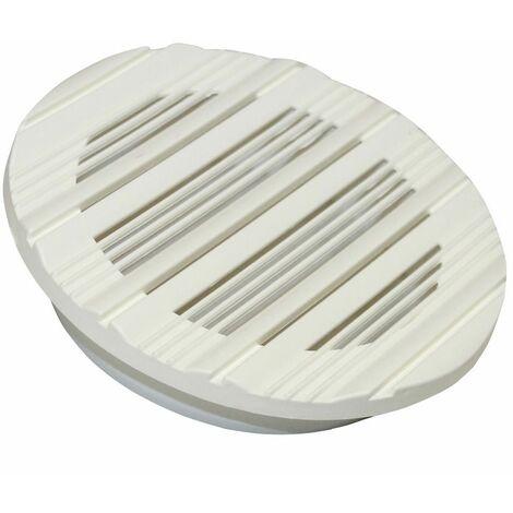 Grille d'aération ronde en plastique. Diamètre: 143mm