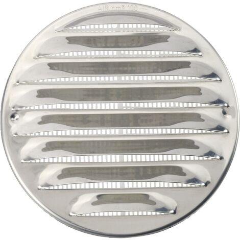 Grille d'aération Wallair N31835 10 cm acier inoxydable S87540
