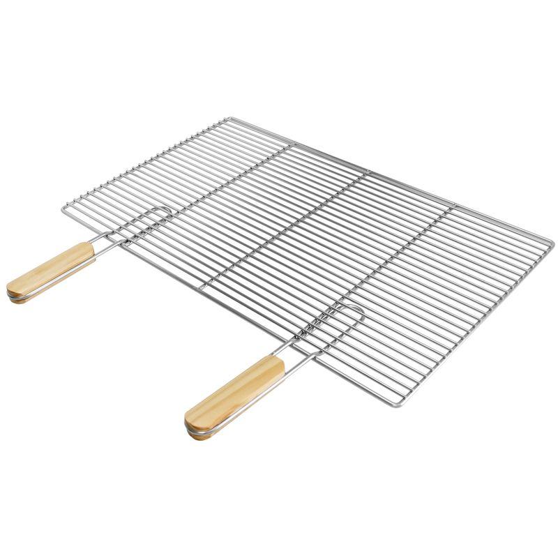 AC Déco Grille Double Manche pour Barbecue 38 x 50 cm