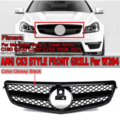 Grille de calandre supérieure avant de voiture de Style AMG C63 pour Mercedes Benz classe C W204 C180 C200 C300 C350 2008-2014
