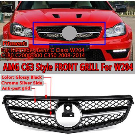 Grille de calandre supérieure avant de voiture de Style AMG C63 pour Mercedes Benz classe C W204 C180 C200 C300 C350 2008-2014 Grille de course