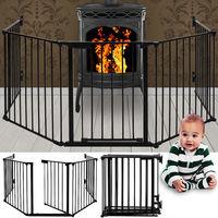 Grille de cheminée protection pour enfants escalier - dimension: 310 cm - 15 kg