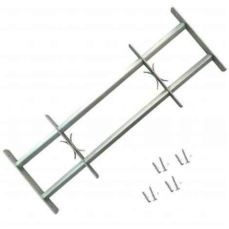 Grille de défense ajustable à 2 traverses pour fenêtre de 500-650 mm