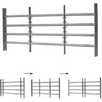 Grille de fenêtre 60x100-150CM acier balcon sécurité balustre tige de garde-corps