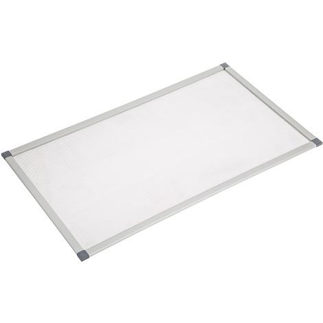 Grille de Protection pour Soupirail Résistante et Anti insectes en Aluminium 115 cm x 60 cm x 1 cm Gris