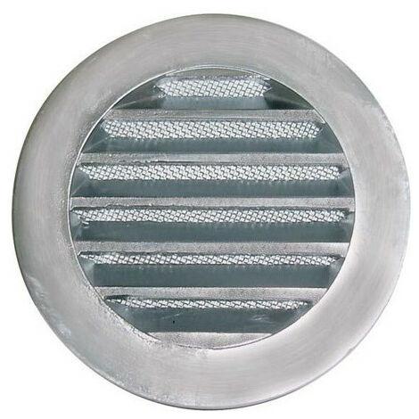 GRILLE DE REJET CIRCULAIRE FONTE ALUMINIUM D125 MM -UNELVENT 873124
