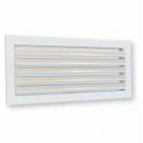 Grille de soufflage simple déflexion à ailettes mobiles montage plafond - 400x150 200/400m3/h