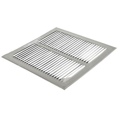 Grille de ventilation aluminium brut 300x300 - ANJOS : 6808
