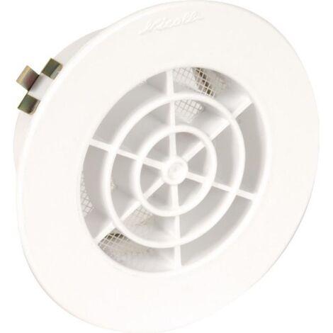 Grille de ventilation avec moustiquaire type GATM Ø 140 mm blanc