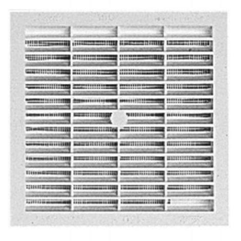 Grille de ventilation carrées à visser ou à coller type B104