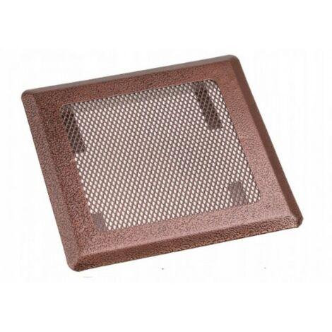 Grille de ventilation cheminée 16x16 cuivre métal