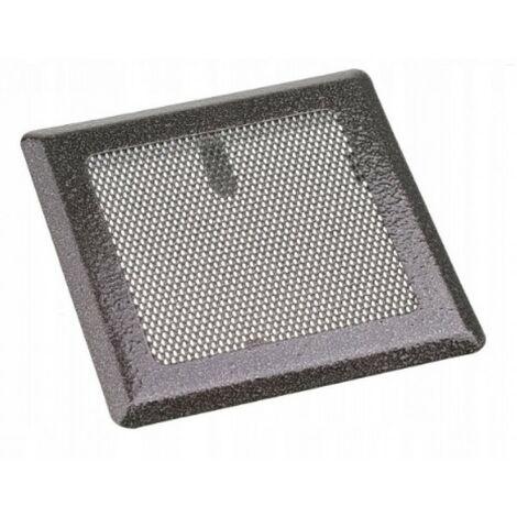 Grille de ventilation cheminée 16x16 métal argent