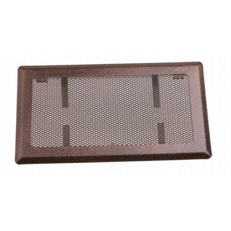 Grille de ventilation cheminée 16x30 cuivre métal