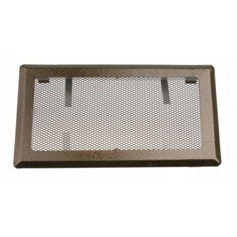 Grille de ventilation cheminée 16x45 métal doré