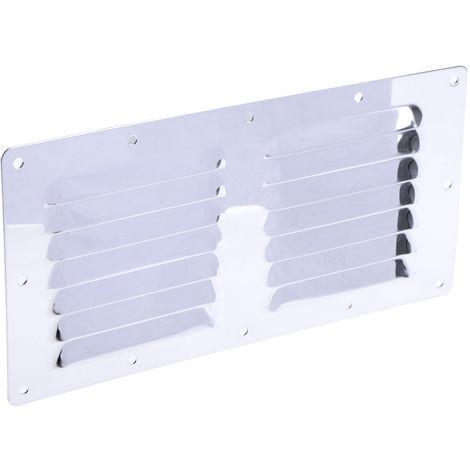 Grille de ventilation en Acier inoxydable à utiliser avec Ventilateur, 230 x 115 x 0.7mm
