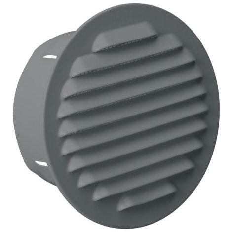 Grille de ventilation extérieure à encastrer Ø 100 mm - finition brut