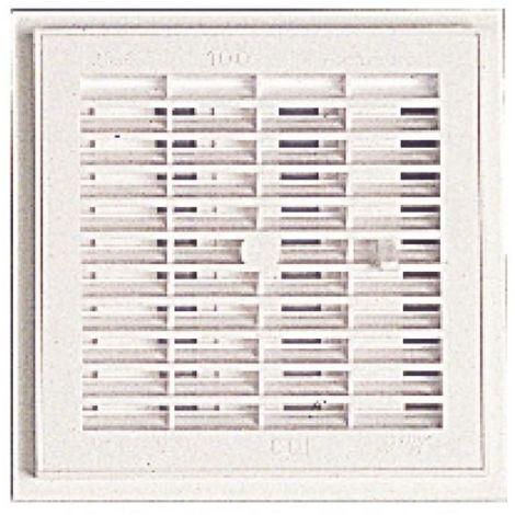 Grille de ventilation intérieure carrée à sceller 160 x 160 mm - à fermeture