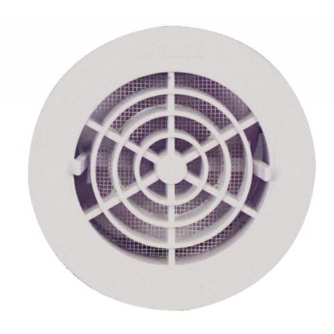 Grille de ventilation intérieures Ø 100 mm - à fermeture FATM pour tubes PVC et gaines